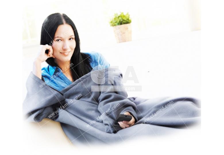 保暖抗寒 冷颼颼必備 三樂事休閒穿蓋電熱毯 插電式自動電熱毯 取暖保溫 輕便耐用 冬天必備