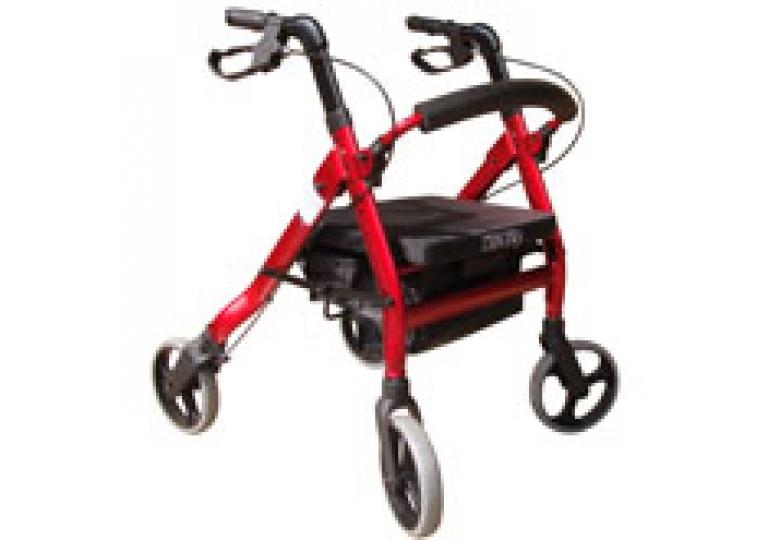 免運【好鄰居】AL2204 無機械動力四輪車-紳士款-紅、黑