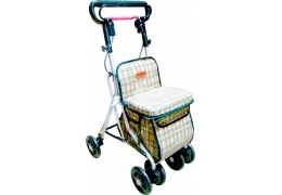 限宅配/郵寄均120【好鄰居】ALF685 銀髮健步車-附置物籃