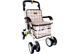 限宅配/郵寄均120【好鄰居】ALF238 銀髮健步車-附置物籃