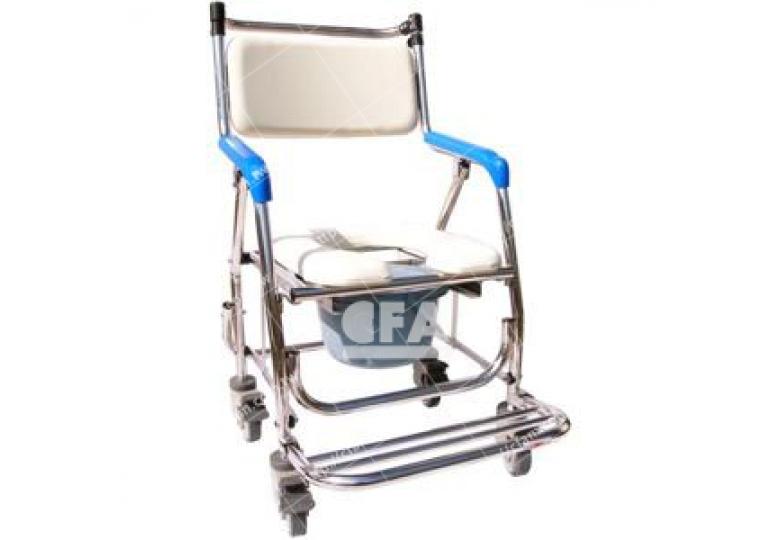 免運【好鄰居】ALST60 不鏽鋼附輪收合便盆椅