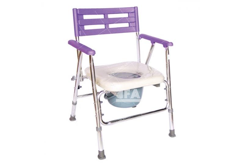 限宅配/郵寄均120【好鄰居】AL105P 鋁製收合便器椅