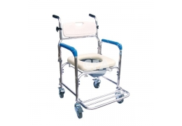免運【好鄰居】AL102W 附輪鋁製便器椅