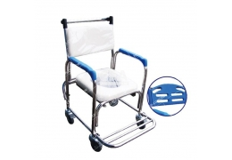 免運【好鄰居】AL023B 不鏽鋼固手附輪便盆椅
