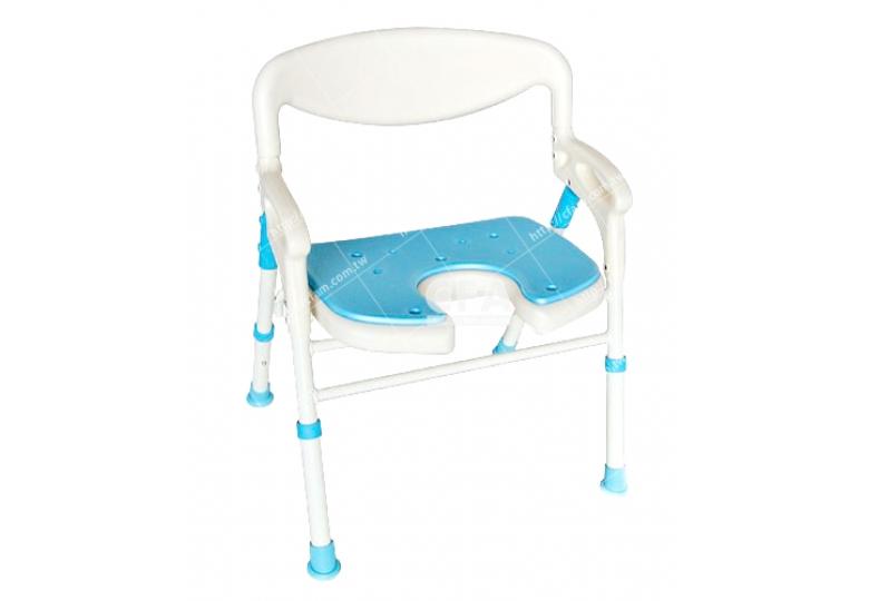 限宅配/郵寄均120【好鄰居】ALS198 鋁製收合洗澡椅-凹坐墊