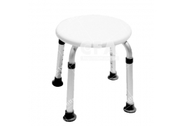 限宅配/郵寄均120【好鄰居】AL9005 鋁製洗澡椅-圓板凳-白