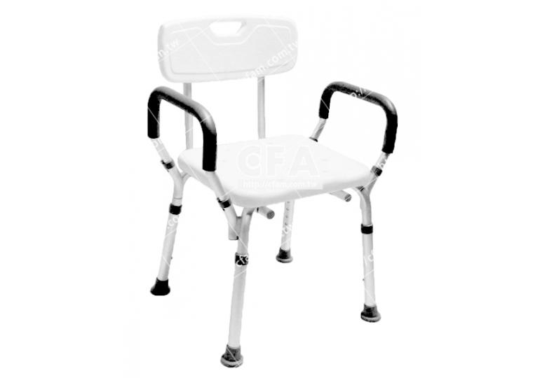 限宅配/郵寄均120【好鄰居】AL9026 鋁製洗澡椅-有背-白