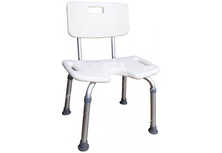 限宅配/郵寄均120【好鄰居】AL9060 鋁製洗澡椅-有背-白