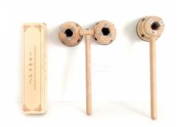 【好鄰居】特製木製灸器 單雙筒/須搭配專用灸條、專用灸條/單支、盒 木製灸筒原木傳統型薰香葫蘆筒葫蘆灸隨身灸溫灸器艾灸盒香薰