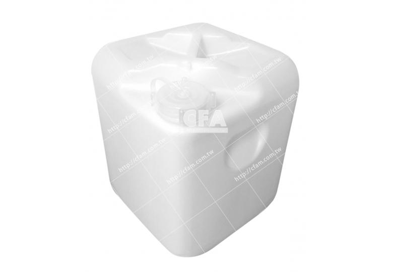 全新化學桶20L 白/單個 5加侖20公升塑膠桶方桶收納桶飼料桶油漆桶塗料桶防水材料桶方形桶耐酸鹼桶化學桶四角桶油桶水桶